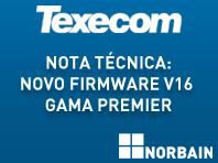 Nota técnica: Novo firmware V16 gama Premier