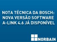 Nota técnica da Bosch: Nova versão do software A-Link 4.6 já se encontra disponível