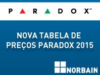 Nova Tabela de Preços PARADOX Fevereiro 2015