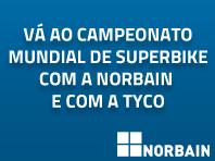 Vá ao Campeonato Mundial de Superbike com a Norbain e com a Tyco